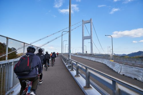 "The Shimanami Kaido cycling road ""National Cycle Route"" is an aerial path across the Seto Inland Sea that draws cyclists from all over the world for its vistas of rich, natural beauty."